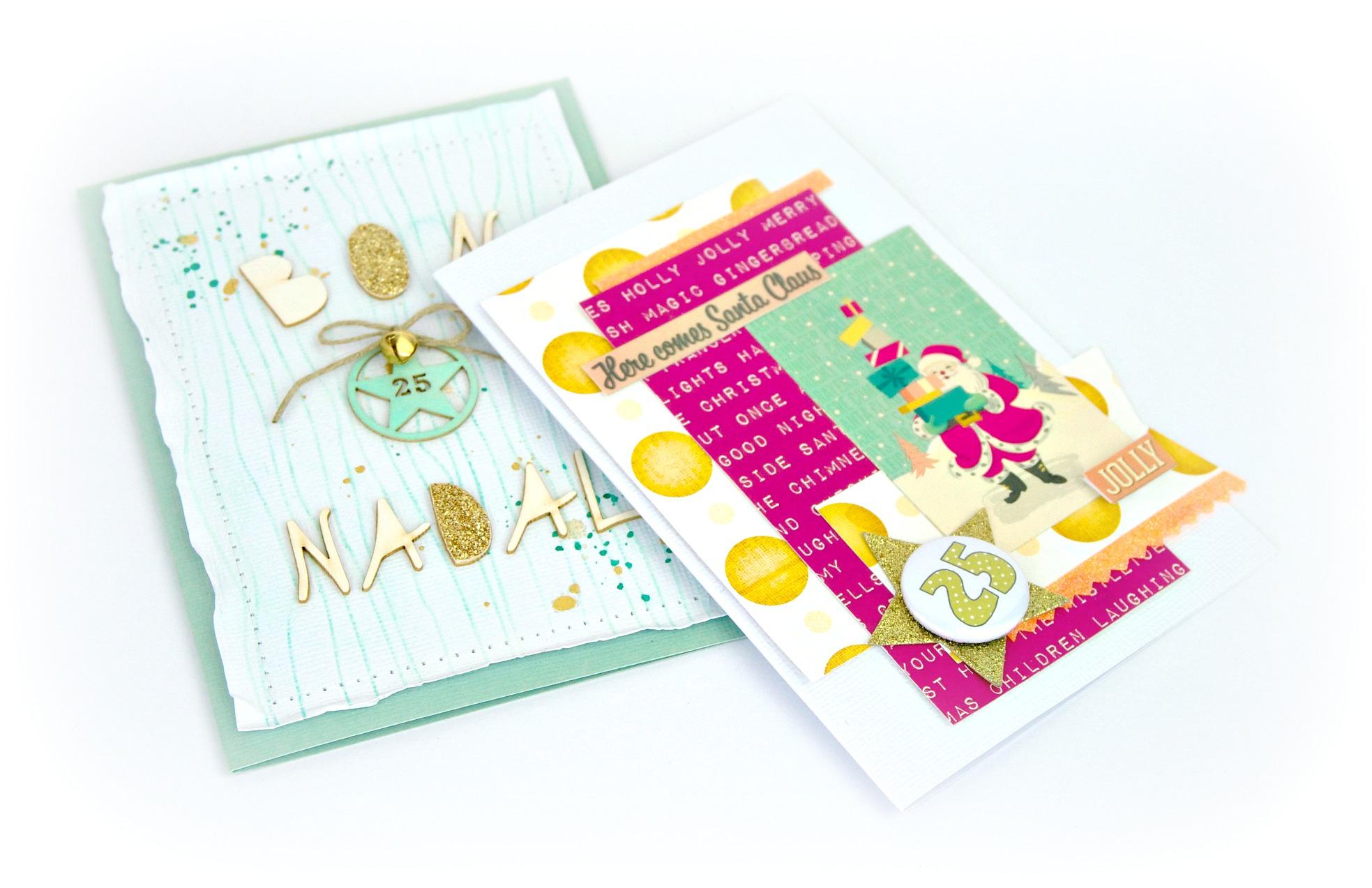 Tarjetería de Navidad, ideas con producto Gigietmoi.