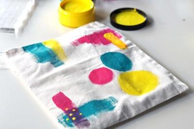 Bolsa de tela decorada