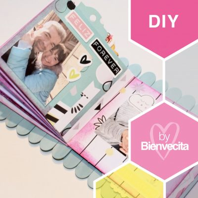 Flip flap … ¡flop book! Tutorial mini álbum con desplegables, paso a paso