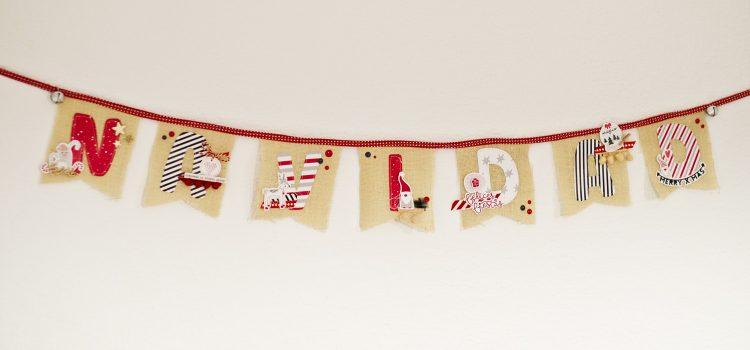 Guirnalda navideña con Dulce Navidad